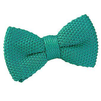 Teal tricoté pré-liés noeud de cravate pour les garçons