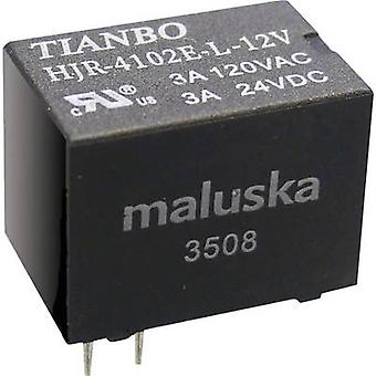 Tianbo Electronics HJR-4102-L-12VDC-S-Z PCB relay 12 V DC 5 A 1 change-over 1 pc(s)