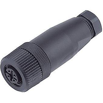 Binder 99-0430-10-04 reeks 713, M12 Sensor / Actuator Connector, schroef dop, rechtdoor