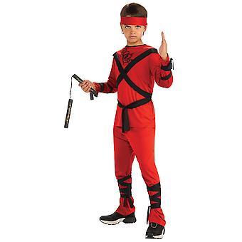 Red Dragon Ninja Assassin Stealth Japanse krijger boek Week jongens kostuum