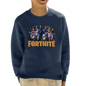 Fortnite tegn Montage barneklubb Sweatshirt