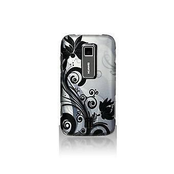Snap-On Case voor Huawei Ascend M860 - grijs bloemen