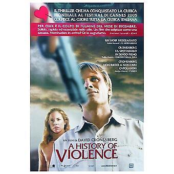 A History of Violence Poster  italienisches Plakat (Viggo Mortensen, Ed Harris, Maria Bello)