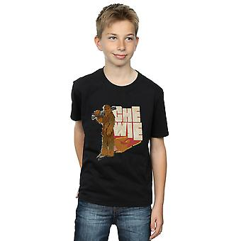 Star Wars Boys Solo Chewie Falcon T-Shirt