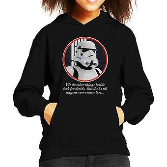 Original Stormtrooper Droids Quote Kid's Hooded Sweatshirt