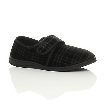 Chaussons orthopédiques diabétiques Ajvani-mens-confort réglable poignée chaussures maison seule