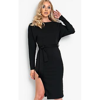 IKRUSH Womens Pria Tie taille Midi jurk