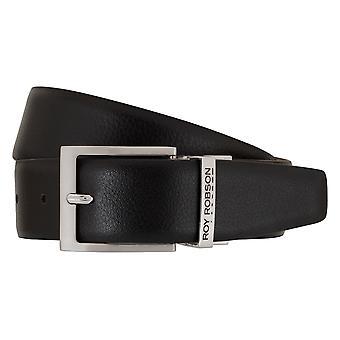 ROY ROBSON belts men's belts Leather Belt Belt Black/Cognac 7680