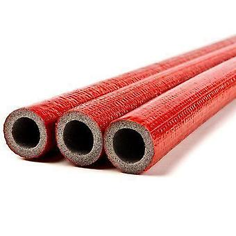 100cm Short Straight Piece 15-35mm Pipe Red Insulation Lagging 6mm Thick Foam