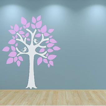 حضانة شجرة الجدار ملصقا شارات الطيور