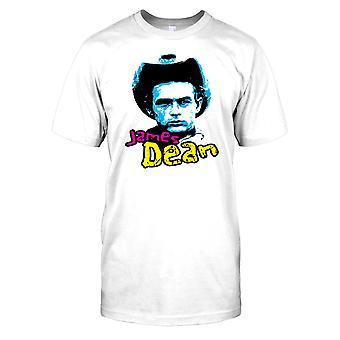 Chapéu de Cowboy de James Dean - tela lenda Mens T-Shirt