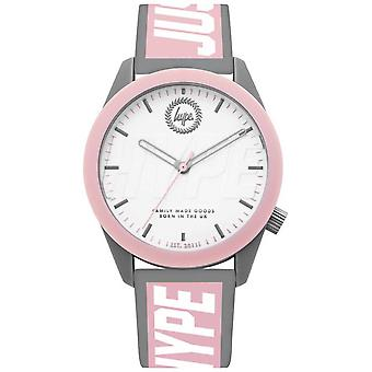 Hype | Ladies | Grey And Pink Silicone Strap | HYL018PW Watch