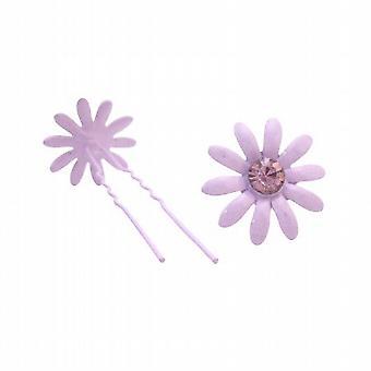 Cabello barato joyería amatista cristal cabello pasador pelo púrpura accesorios