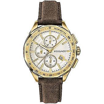 Versace reloj reloj de pulsera Cronógrafo esmalte de cuero VEBJ00418