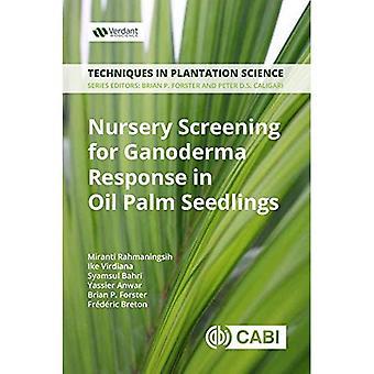 Proyección de vivero para Ganoderma respuesta en plántulas de Palma de aceite: un Manual (técnicas en ciencia de la plantación)