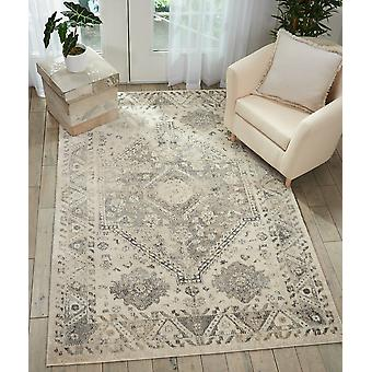 Fusion Nourison FSS11 Cream Grey  Rectangle Rugs Traditional Rugs