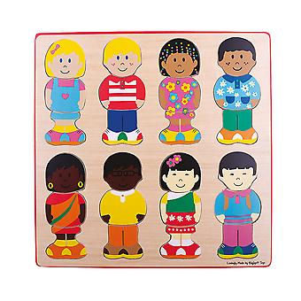 Bigjigs Toys Wooden Little Friends Jigsaw Puzzle