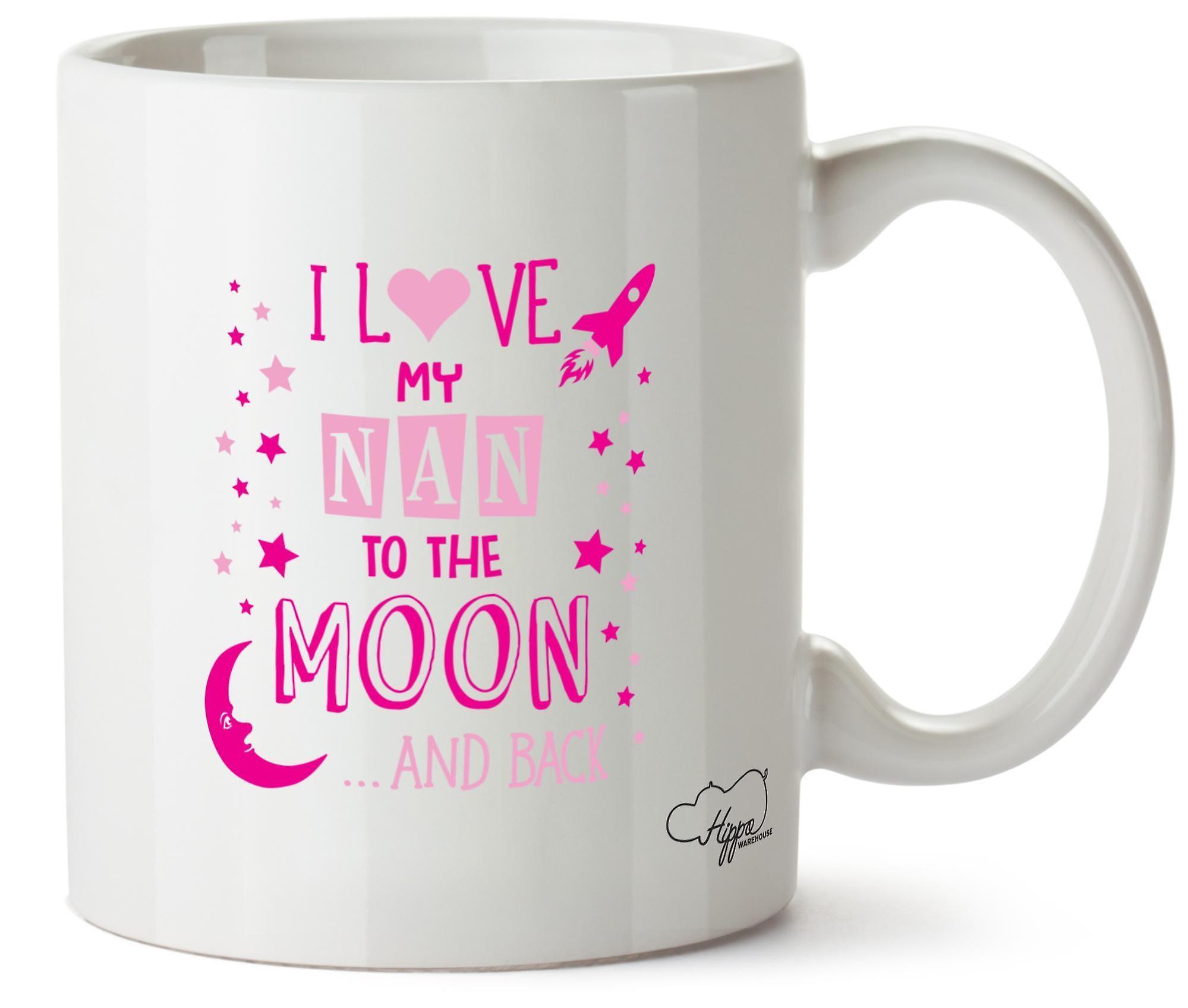 Hippowarehouse, я люблю мой НАН к Луне и обратно (розовый) напечатаны Кубка керамическая кружка 10oz