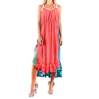 Marco De Vincenzo Ezbc120004 Women's Multicolor Polyester Dress