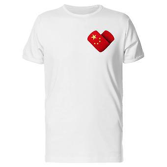 Eu amo a China bandeira Tee Men coração-imagem por Shutterstock