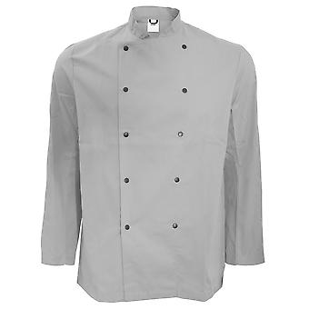 Dennys Unisex Long Sleeve Stud Button Chef Jacket (Pack of 2)