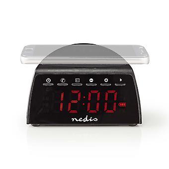 Nedis CLAR006BK Digitale Wekkerradio Draadloos Telefoon Opladen Fm Bluetooth® Stereo
