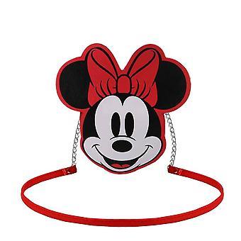 Minnie Mouse Face Red Shoulder Bag
