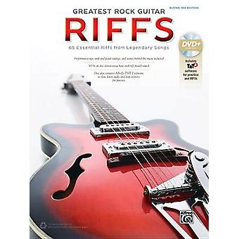 The Greatest Rock Guitar Riffs - Guitar Tab - Book & DVD-ROM by Alfred