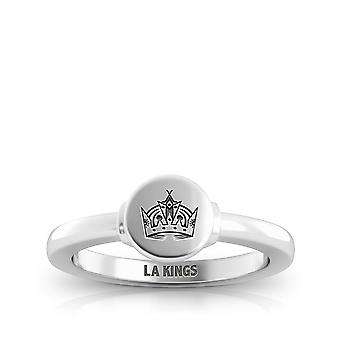 Los Angeles Kings Engraved Sterling Silver Signet Ring