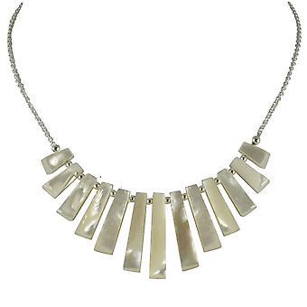 Ewige Sammlung Idaho Perlmutt absolvierte Fan Sterling Silber Halskette