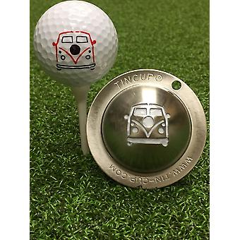 Tin Cup Golf Ball mærkning system Woodstock