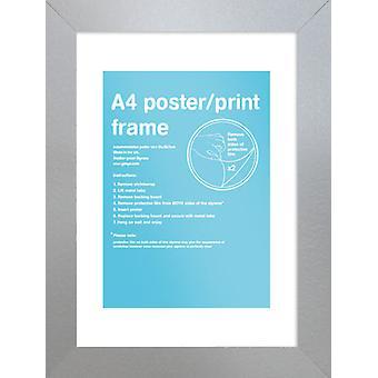 Marco de plata de Eton A4 cartel / impresión marco