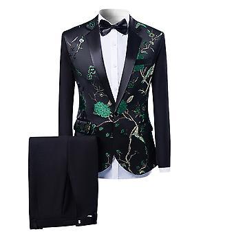 Allthemen men ' s tuxedos 2-delige banket podiumprestaties past blazer & broek