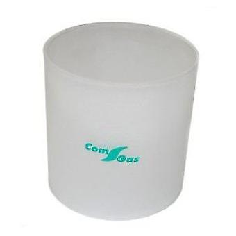 Comgas の円柱ガラス 110 x 115 mm の照明ランプの芸術。LC55 (庭、その他)