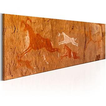 Artgeist Canvas Print Cave Paintings (Decoration , Pictures and frames , Canvases)