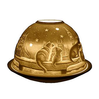 Light Glow Dome Tealight Holder, London Cats