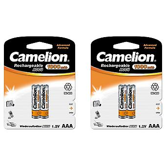 4x Camelion rechargeable batteries AAA NiMH 1000mAh battery