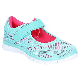 Caravelle Womens Mexico Sporty Comfort Casual Shoe Mint/Fuschia