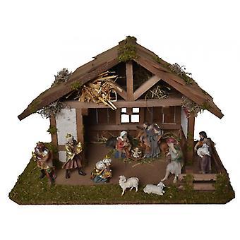 Nativity Christmas Nativity stable winter time wood crib Nativity scene