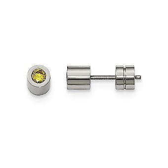 Rostfritt stål CZ Cubic Zirconia Simulerad Diamond Nov polerad Post Örhängen Smycken Gåvor för kvinnor