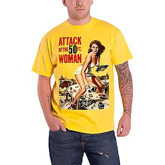Plan 9 Attack of the 50ft Women Poster Official Mens New Yellow T Shirt