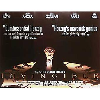 Invincible (Double Sided) Original Cinema Poster