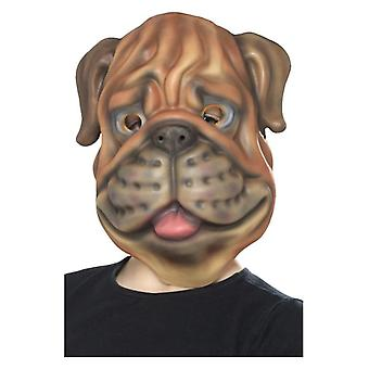 Childrens Dog Face Mask Fancy Dress Accessory