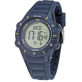 SINAR Youth Watch Wristwatch Digital Quartz Unisex Silicone Strap XR-12-2 Bleu