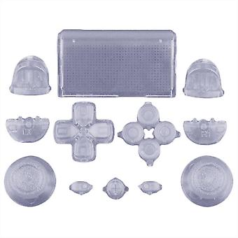 Volledige vervanging knop Set mod kit voor 1e generatie Sony PS4 controllers-transparant Clear