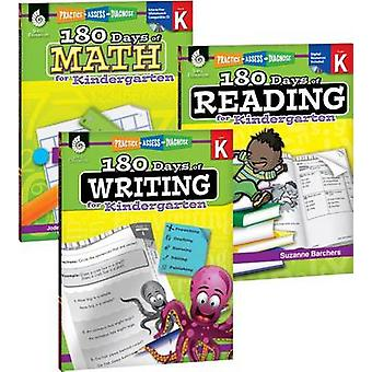 180 Days of Reading - Writing and Math for Kindergarten 3-Book Set by