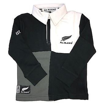 New Zealand Rugby All Blacks Kids Quartered Long Sleeve Rugby Shirt | 2019/20 Season