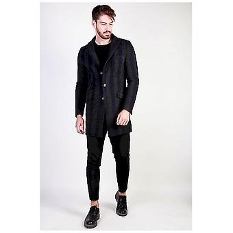 Made in Italia - Clothing - Coat - AMERIGO_BLU - Men - midnightblue,dimgray - 54