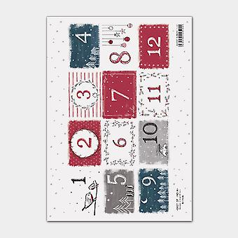 East of India Sticker Sheet Advent numbers 1-12 (12)