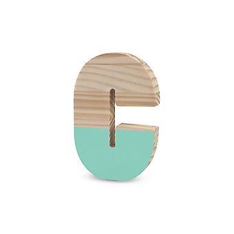 La Lluna0209000-C Semilacquered Pine Letter C Mint